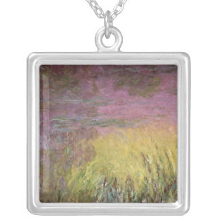 Claude Monet | Waterlilies Sunset, 1915-26 Silver Plated Necklace