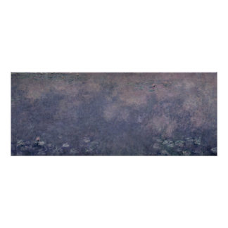 Claude Monet | Waterlilies: Two Weeping Willows Poster
