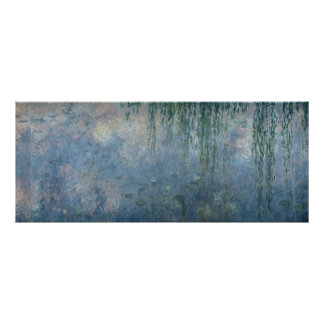Claude Monet | Waterlilies: Weeping Willows, 1914 Poster