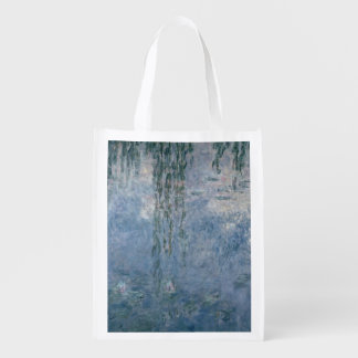 Claude Monet | Waterlilies: Weeping Willows, 1914 Reusable Grocery Bag