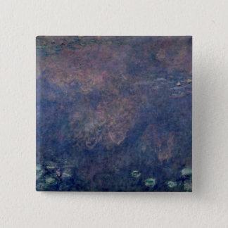 Claude Monet | Waterlilies: Weeping Willows centre Pinback Button