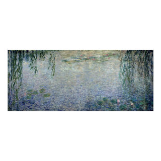 Claude Monet | Waterlilies Weeping Willows centre Poster