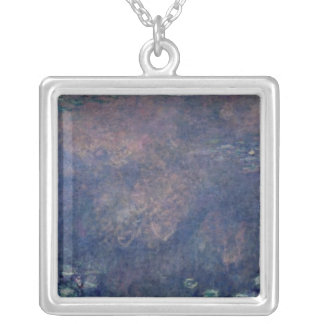 Claude Monet | Waterlilies: Weeping Willows centre Silver Plated Necklace