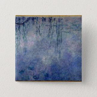 Claude Monet | Waterlilies: Weeping Willows left Pinback Button