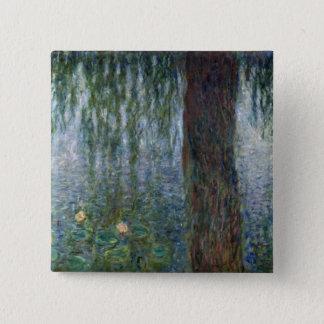 Claude Monet | Waterlilies Weeping Willows left Pinback Button