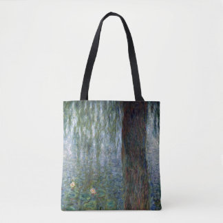 Claude Monet | Waterlilies Weeping Willows left Tote Bag