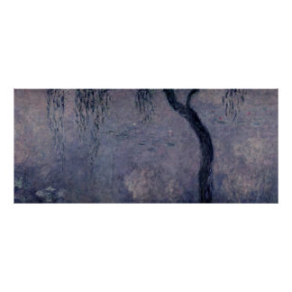 Claude Monet | Waterlilies: Weeping Willows right Poster