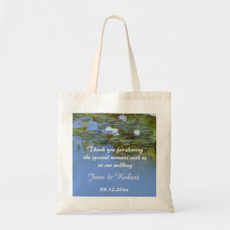 Claude Monet waterlily wedding favor than you Canvas Bags
