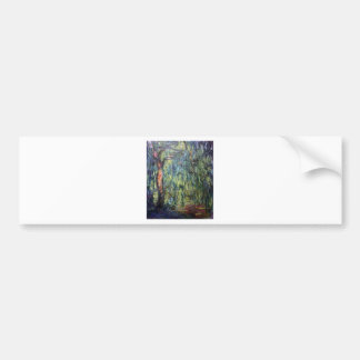 Claude Monet Weeping Willow Bumper Stickers