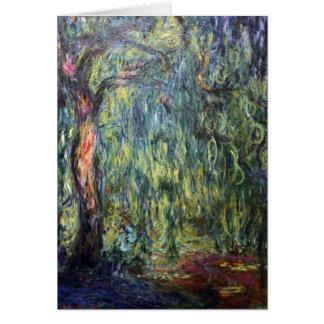 Claude Monet Weeping Willow Card