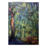 Claude Monet Weeping Willow Greeting Cards