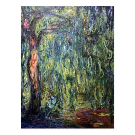 Claude Monet Weeping Willow Postcard
