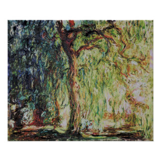 Claude Monet - Weeping Willow Poster