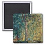 Claude Monet - Weeping Willow Refrigerator Magnet