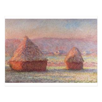 Claude Monet - White Frost Sunrise Postcard