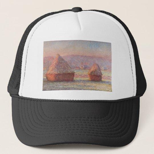 Claude Monet - White Frost Sunrise Trucker Hat