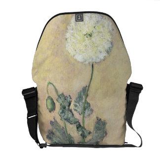 Claude Monet | White Poppy, 1883 Courier Bag