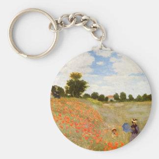 Claude Monet // Wild Poppies Basic Round Button Keychain
