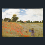 "Claude Monet // Wild Poppies Cloth Placemat<br><div class=""desc"">The famous work by the Impressionist painter Claude Monet.</div>"