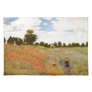 Claude Monet // Wild Poppies Cloth Placemat at Zazzle