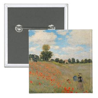 Claude Monet | Wild Poppies, near Argenteuil Button