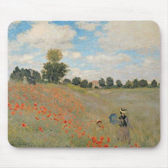 Claude Monet | Wild Poppies, near Argenteuil Mouse Pad