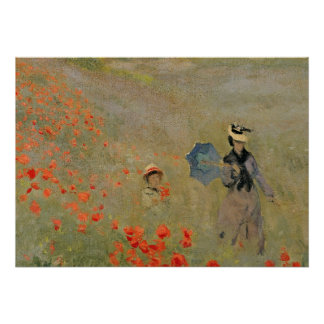 Claude Monet | Wild Poppies, near Argenteuil Poster