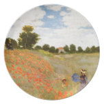 Claude Monet // Wild Poppies Party Plate