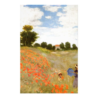 Claude Monet // Wild Poppies Stationery