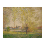 Claude Monet - Willows of Vetheuil Wood Canvas