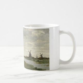 Claude Monet - Windmills Near Zaandam Coffee Mug