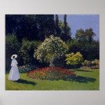 Claude Monet Woman in a Garden Poster