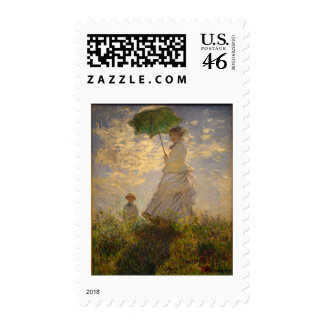Claude Monet Woman with a Parasol 1875 Postage