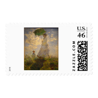 Claude Monet Woman with a Parasol 1875 Postage Stamp