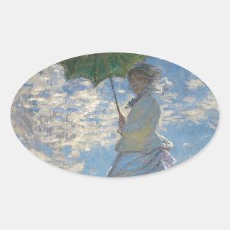 Claude Monet Woman with a Parasol 1875 Sticker