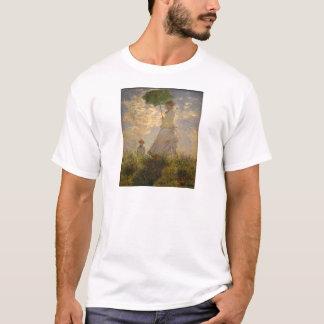 Claude Monet: Woman with a Parasol, 1875 T-Shirt
