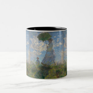 Claude Monet Woman with a Parasol by GalleryHD Two-Tone Coffee Mug
