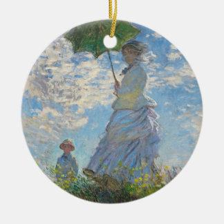 Claude Monet | Woman with a Parasol Ceramic Ornament
