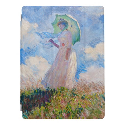 Claude Monet - Woman with a Parasol facing left iPad Pro Cover