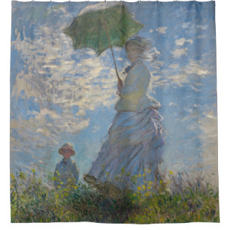 Claude Monet Woman with a Parasol GalleryHD Art Shower Curtain