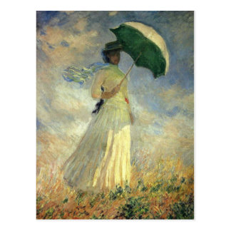 "Claude Monet, ""Woman with a Parasol"" Postcard"