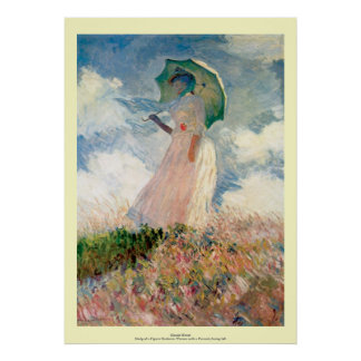 Claude Monet - Woman with a Parasol Poster