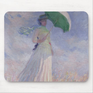 Claude Monet | Woman with a Parasol Turned Right Mouse Pad