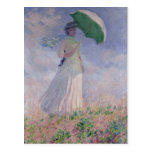 Claude Monet | Woman with a Parasol Turned Right Postcard