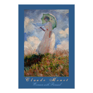 Claude Monet: Woman with Parasol Poster