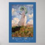 Claude Monet: Woman with Parasol Print