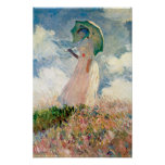 Claude Monet - Woman with Parasol study Print