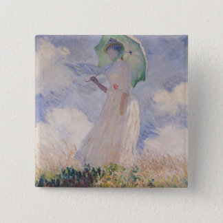 Claude Monet | Woman with Parasol Turned Left Button