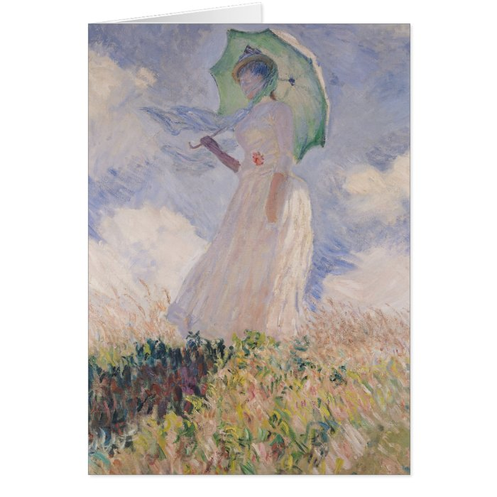 Claude Monet   Woman with Parasol Turned Left Card
