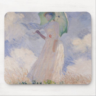 Claude Monet | Woman with Parasol Turned Left Mouse Pad